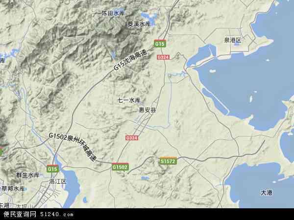 中国福建省泉州市惠安县地图(卫星地图)