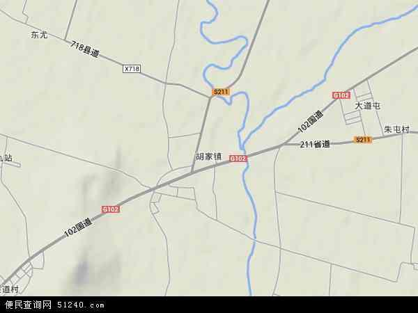 中国辽宁省锦州市黑山县胡家镇地图(卫星地图)
