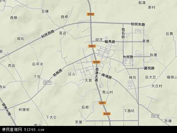 中国福建省莆田市秀屿区笏石镇地图(卫星地图)