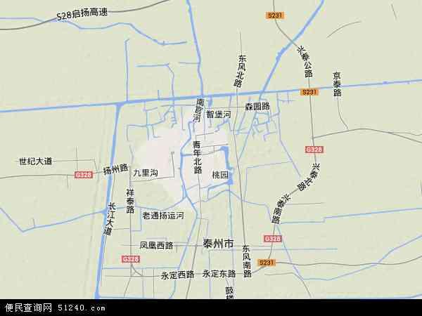 泰州海陵_海陵区地图 - 海陵区卫星地图 - 海陵区高清航拍地图