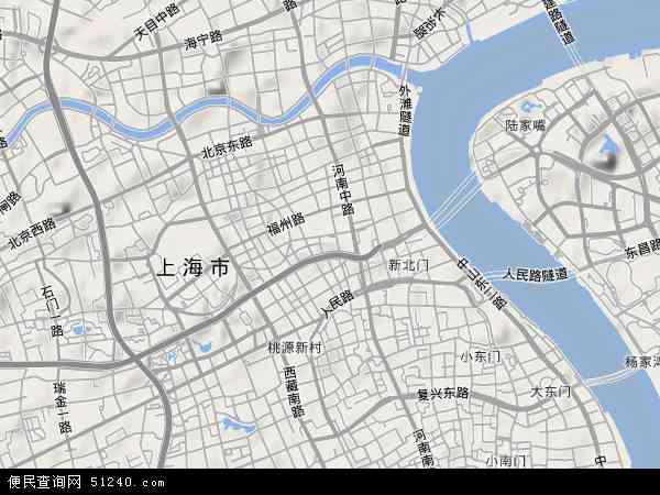 中国上海市黄浦区地图(卫星地图)