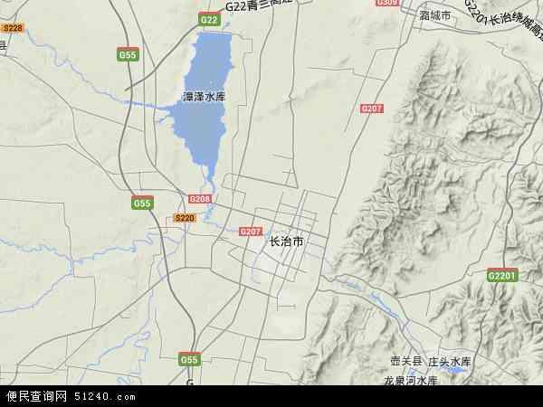 中国山西省长治市郊区地图(卫星地图)