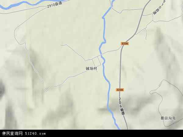 中国黑龙江省鸡西市梨树区碱场地图(卫星地图)