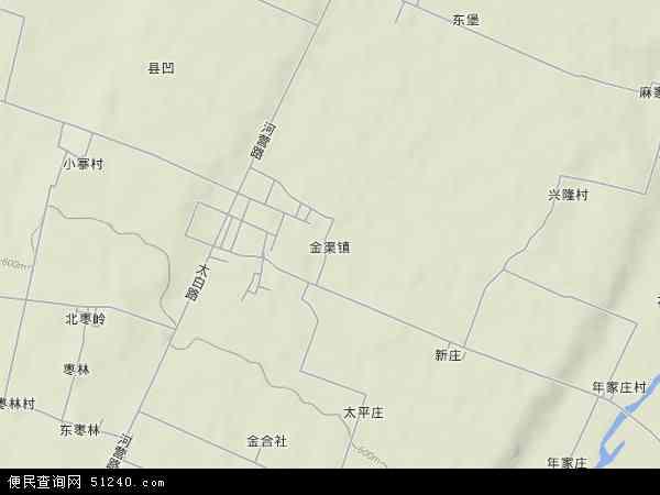 中国陕西省宝鸡市眉县金渠镇地图(卫星地图)