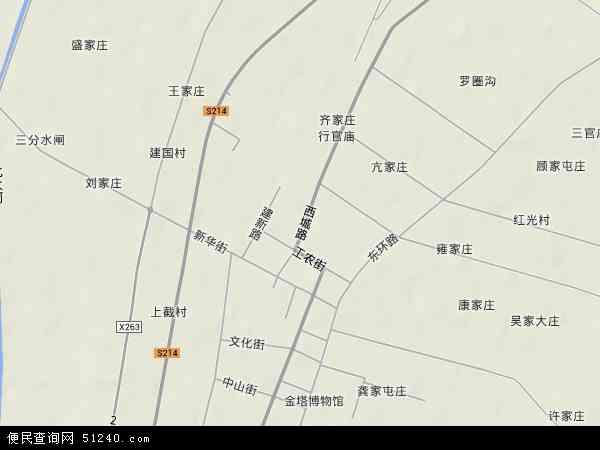 中国甘肃省酒泉市金塔县金塔镇地图(卫星地图)