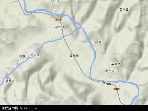 中国山西省临汾市安泽县冀氏镇地图(卫星地图)