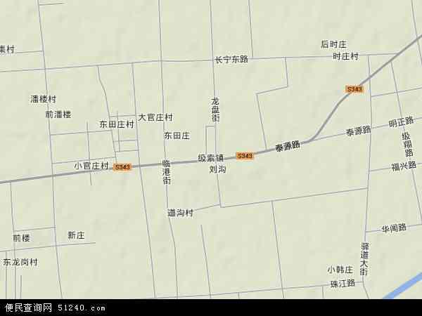 中国山东省枣庄市滕州市级索镇地图(卫星地图)