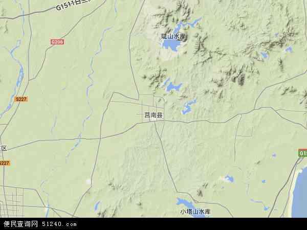 中国山东省临沂市莒南县地图(卫星地图)