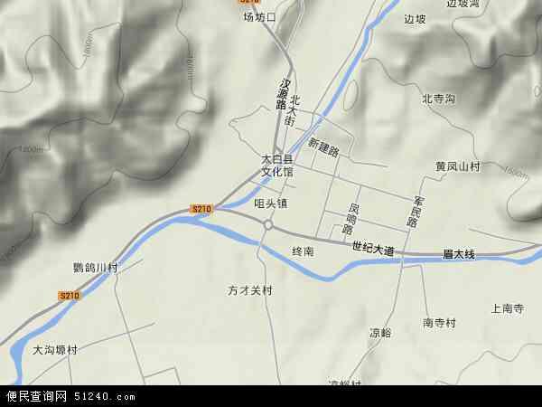 陕西省 宝鸡市 太白县 咀头镇  本站收录有:2018咀头镇卫星地图高清版