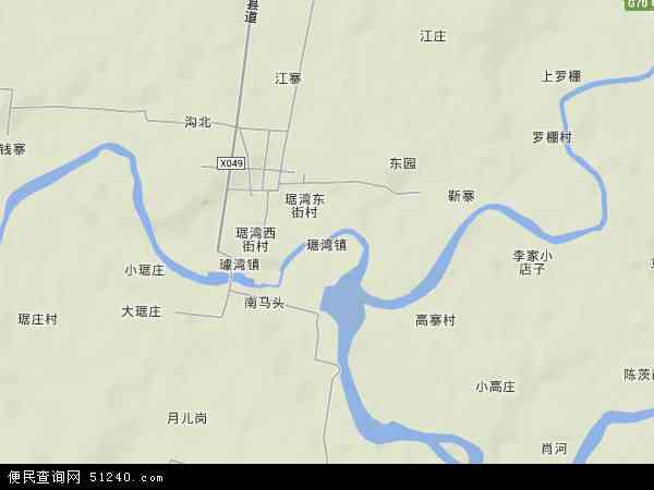 中国湖北省襄阳市枣阳市琚湾镇地图(卫星地图)