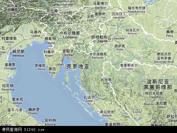 2013克罗地亚卫星地图