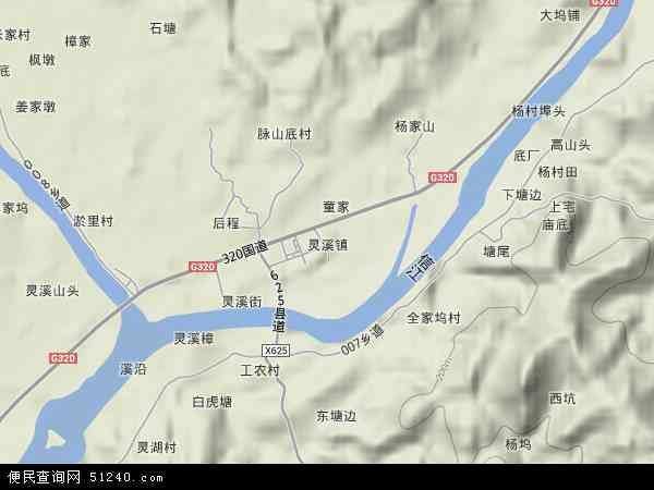 灵溪地图 - 灵溪卫星地图