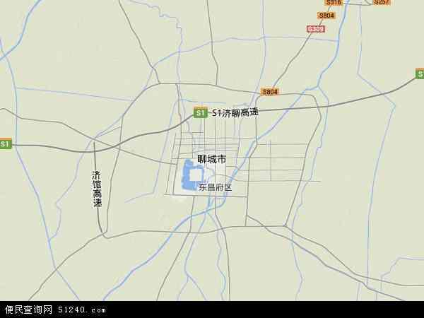 聊城市地形图 - 聊城市地形图高清版 - 2016年聊城市地形图