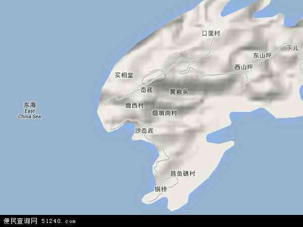 中国浙江省温州市洞头县鹿西乡地图(卫星地图)