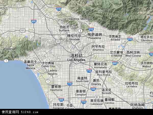 洛杉矶地图 - 洛杉矶卫星地图 - 洛杉矶高清航拍地图 - 洛杉矶高清卫星地图 - 洛杉矶2015年卫星地图 - 美国加利福尼亚洛杉矶地图