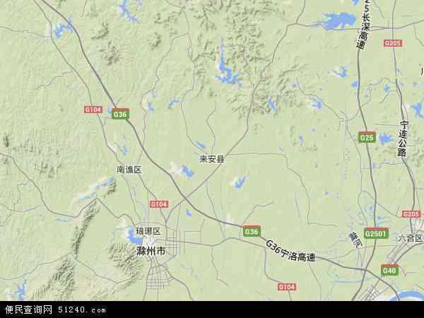 来安县地图 - 来安县卫星地图