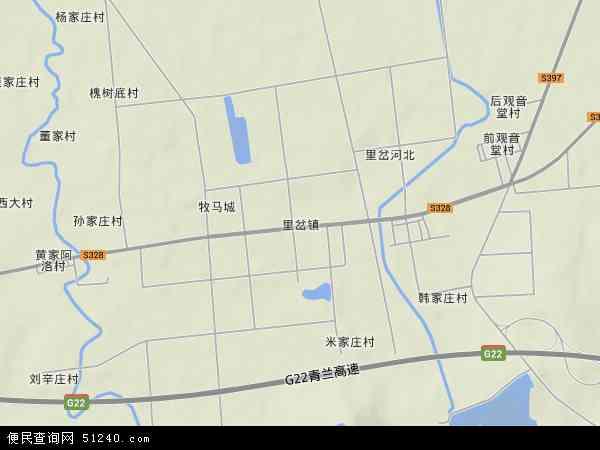 中国山东省青岛市胶州市里岔镇地图(卫星地图)