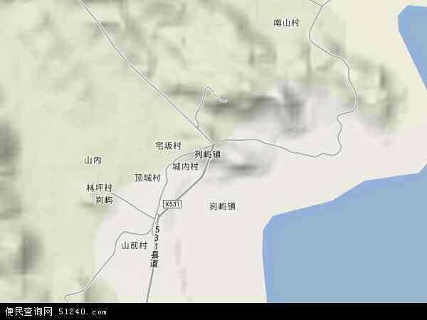 中国福建省漳州市云霄县列屿镇地图(卫星地图)