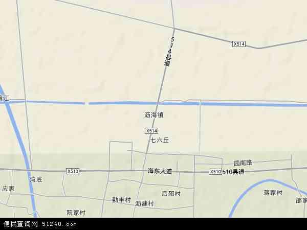 中国浙江省绍兴市上虞市沥海镇地图(卫星地图)