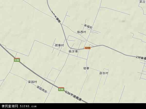 中国河南省平顶山市汝州市临汝镇地图(卫星地图)