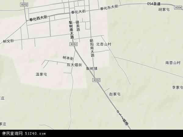 中国吉林省四平市梨树县梨树镇地图(卫星地图)