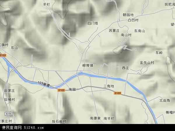 柳埠镇地形图 - 柳埠镇地形图高清版 - 2017年柳埠镇地形图