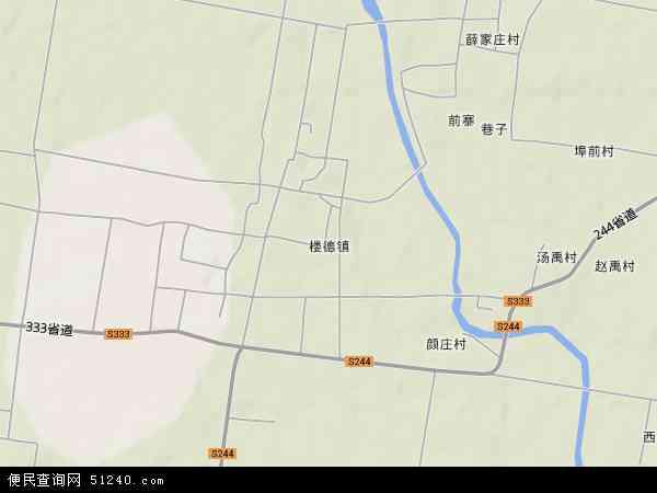 中国山东省泰安市新泰市楼德镇地图(卫星地图)