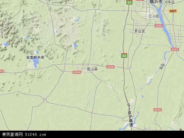 中国山东省临沂市苍山县芦柞镇地图(卫星地图)