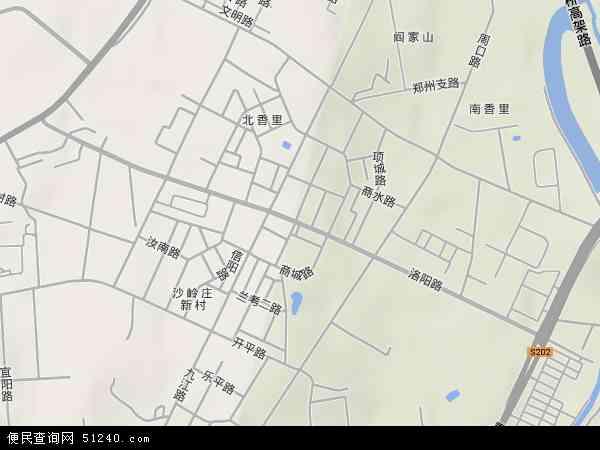 中国山东省青岛市市北区洛阳路地图(卫星地图)
