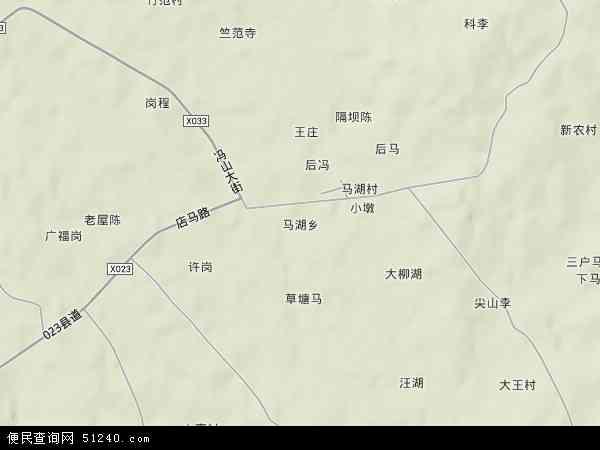 中国安徽省合肥市肥东县马湖乡地图(卫星地图)图片