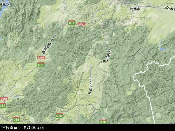 中国黑龙江省牡丹江市穆棱市地图(卫星地图)