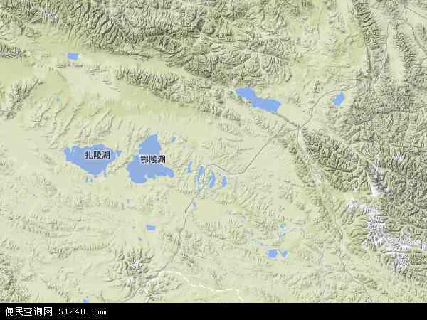 中国青海省果洛藏族自治州玛多县地图(卫星地图)