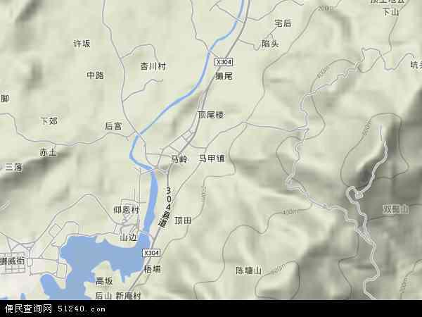 中国福建省泉州市洛江区马甲镇地图(卫星地图)