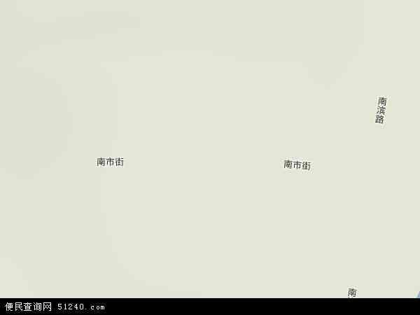 中国陕西省延安市宝塔区南市地图(卫星地图)