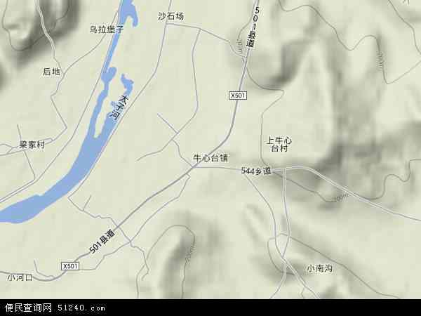 牛心台地图 - 牛心台卫星地图