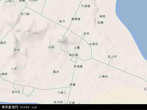 南日镇地形图 - 南日镇地形图高清版 - 2016年南日镇地形图