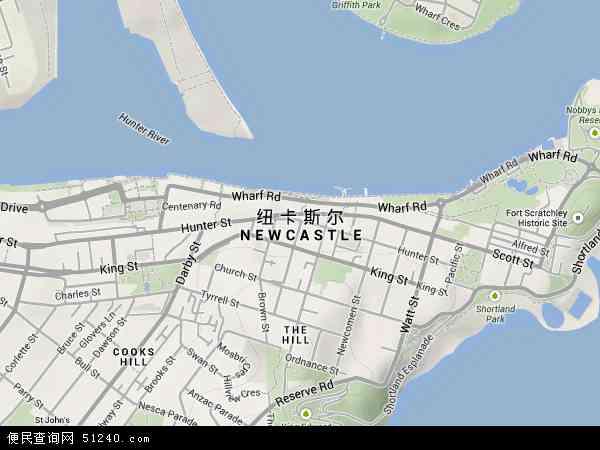 澳大利亚新南威尔士纽卡斯尔地图(卫星地图)图片