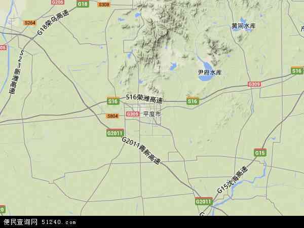 平度市地图 - 平度市卫星地图