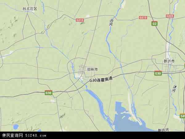 邳州市地图 - 邳州市卫星地图