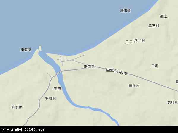 中国海南省省直辖县级行政区划儋州市排浦镇地图