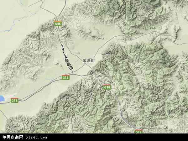 中国山西省大同市矿区青磁窑地图(卫星地图)
