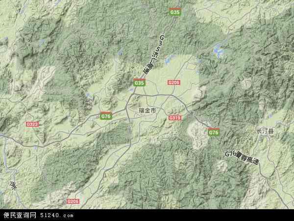 瑞金市地图 - 瑞金市卫星地图