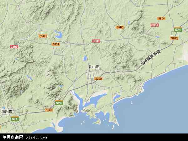 乳山市地图 乳山市卫星地图 乳山市高清航拍地图 乳山市高清卫星地图