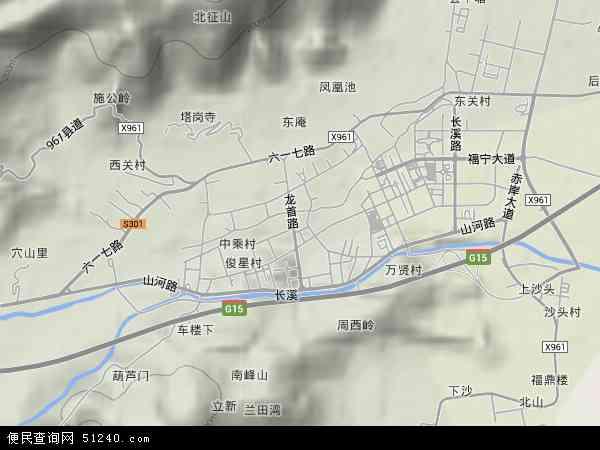 中国福建省宁德市霞浦县松城地图(卫星地图)