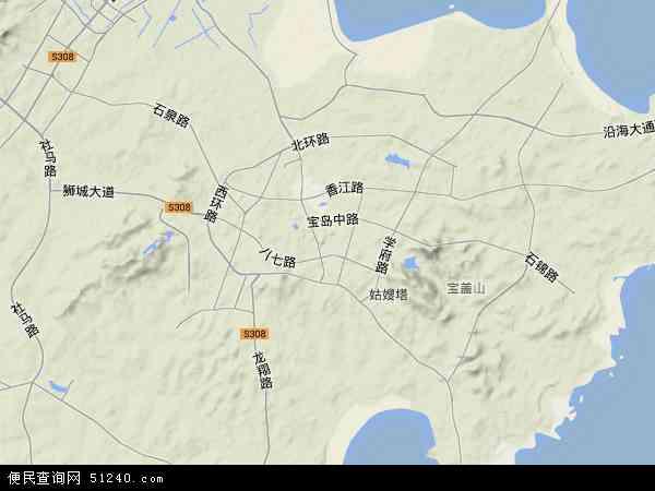 中国福建省泉州市石狮市地图(卫星地图)