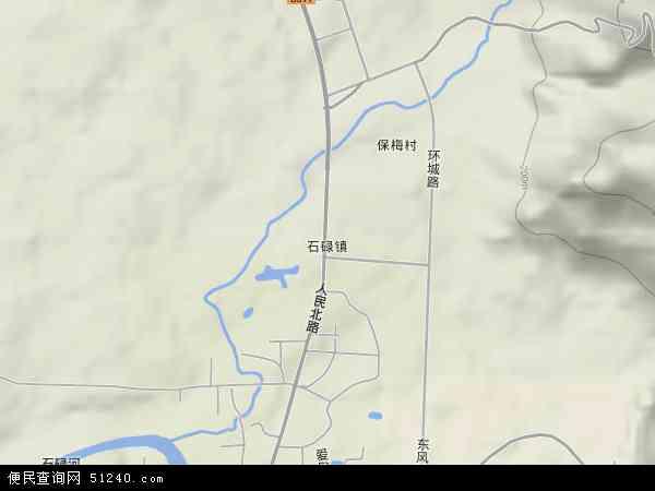中国海南省省直辖县级行政区划昌江黎族自治县石碌镇地图(卫星地图)