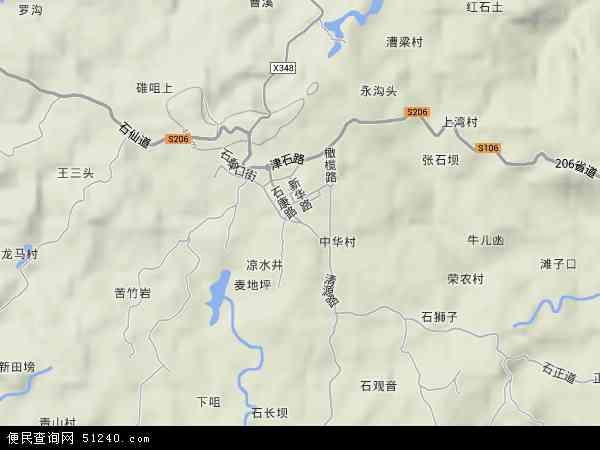 中国重庆市江津区石蟆镇地图(卫星地图)