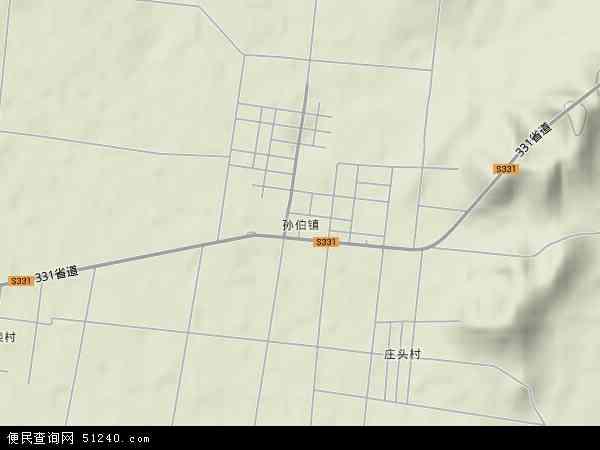 中国山东省泰安市肥城市孙伯镇地图(卫星地图)