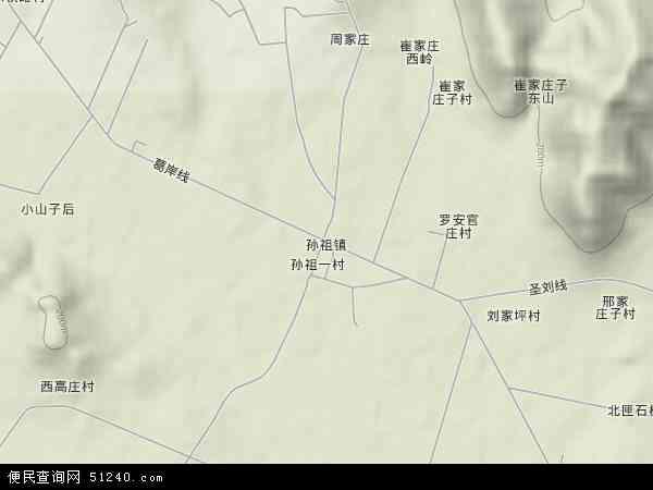 中国山东省临沂市沂南县孙祖镇地图(卫星地图)