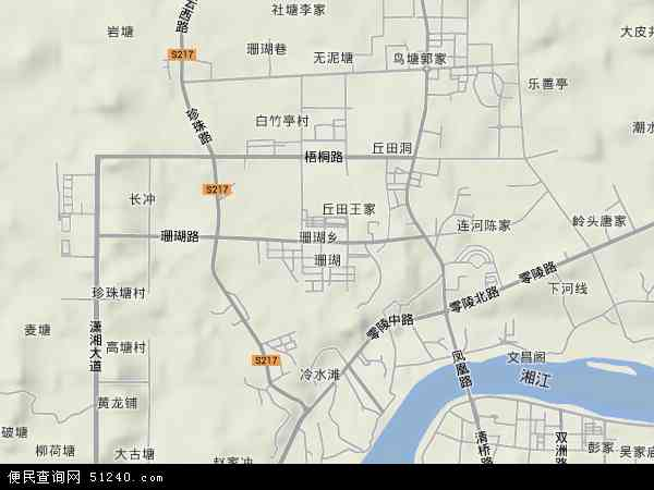 中国湖南省永州市冷水滩区珊瑚地图(卫星地图)